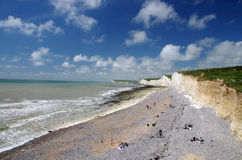 White cliffs of south England. Famous white cliffs of south England Stock Photo