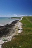 White cliffs of south England. Famous white cliffs of south England Stock Image
