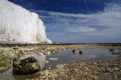 White cliffs of south England. Famous white cliffs of south England Royalty Free Stock Photo