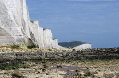White cliffs of south England. Famous white cliffs of south England stock photos