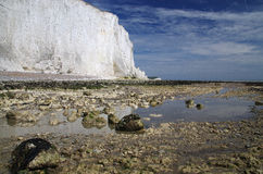 White cliffs of south England. Famous white cliffs of south England royalty free stock image
