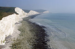 The white cliffs of south England. A photo of the white cliffs of south England Royalty Free Stock Images