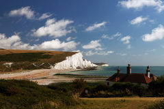 White Cliffs. Taken at Seven Sister Country Park in Eastbourne UK on a fine Summer's Day Royalty Free Stock Images