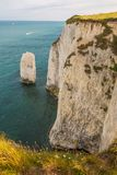 White Cliffs with Turquoise Atlantic Ocean on a Sunny Day royalty free stock photography