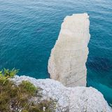 White Cliffs with Turquoise Atlantic Ocean on a Sunny Day stock photos