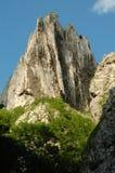 White cliffs in Turzii gorge, Romania Stock Image
