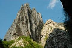 White cliffs in Turzii gorge, Romania Stock Photography