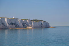 White cliffs. Views on white cliffs from a Shiff in britsh channel Royalty Free Stock Photos