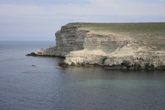 White cliffs. In the  Western coast of Crimea Stock Photo