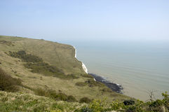 White clifs of Dover. A veiw from the top of the white cliffs of Dover Stock Photos