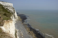 White clifs of Dover. A veiw from the top of the white cliffs of Dover Stock Images