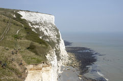 White clifs of Dover. A veiw from the top of the white cliffs of Dover Royalty Free Stock Image