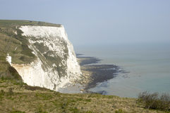 White clifs of Dover. A veiw from the top of the white cliffs of Dover Royalty Free Stock Photography