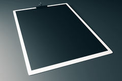 White clipboard with black paper Royalty Free Stock Photo