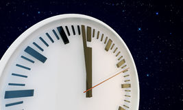 White clock Stock Image
