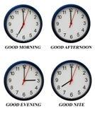 White clock Stock Image