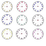White clock. A white clock on the wall stock image