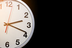 White clock Stock Photography