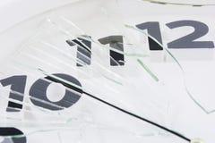 White clock is broken glass  Royalty Free Stock Photos