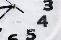 White clock is broken glass  Royalty Free Stock Photo