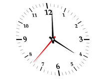 White clock without frame Stock Photo