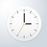 White clock. This image is a vector illustration Stock Photography