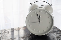White Clock Midday Royalty Free Stock Photography