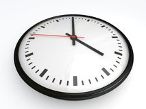 White clock with red arrow Royalty Free Stock Photography