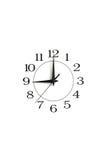 White clock showing nine isolated Royalty Free Stock Images