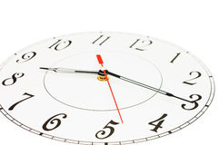 White clock showing time Stock Images