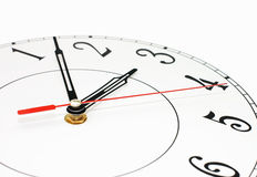 White clock showing time Royalty Free Stock Photo