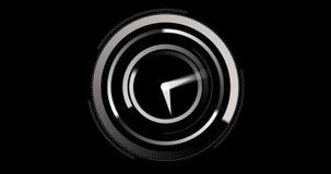 White clock ticking stock video