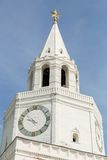White clock tower Stock Image