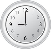 White clock vector illustration Royalty Free Stock Photo
