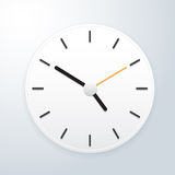 White clock vector. This image is a vector illustration Royalty Free Stock Photo