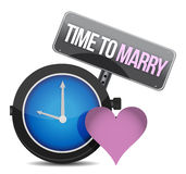 White clock with words Time to Marry Royalty Free Stock Photos
