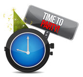 White clock with words Time to Party Stock Images