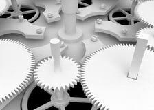 White Clockwork. White 3d, horizontal Royalty Free Stock Image