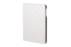 White closed  tablet case on white background Stock Photography