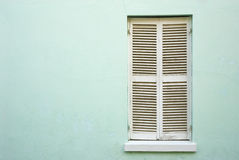 White, closed window shutters Stock Photography