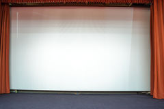 White cloth for the cinema Stock Images