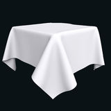 White cloth on the object or table. Stock Photos