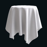 White cloth on the round object or table. Royalty Free Stock Image
