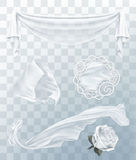 White cloth with transparency Stock Photos