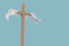 White Cloth On Wooden Cross Illustration Royalty Free Stock Photography