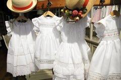 Children clothes in shop Stock Photos