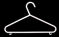 White clothes hanger Stock Photography