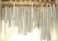 White clothes in Shop Royalty Free Stock Photo