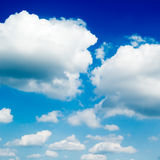 White cloud. On blue sky Stock Photo