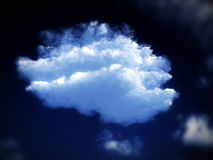 White Cloud 54. A image of a cloudy sky. It would be a good natural background image Stock Image